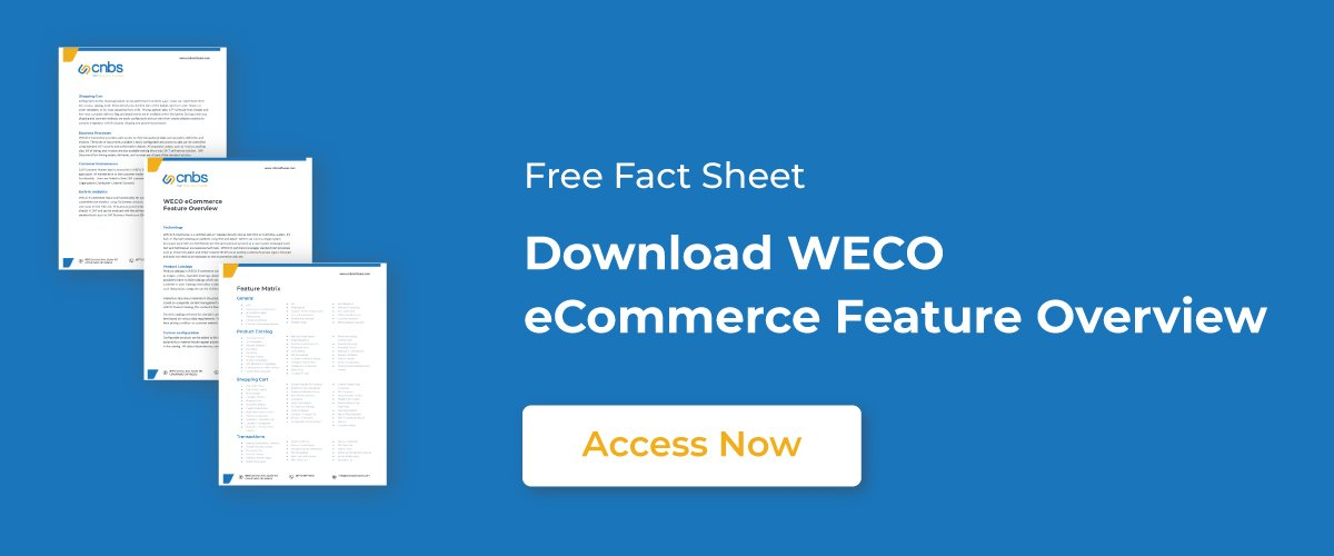 "Image with words ""Download WECO eCommerce Feature overview"""