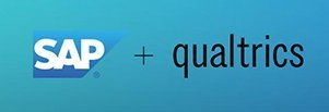 SAP Logo + Qualtrics Logo
