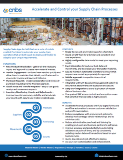 SupplyChain Datasheet Cover