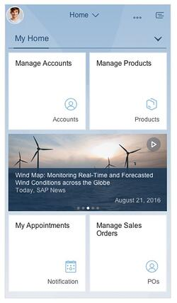 SAP Fiori Mobile Screenshot