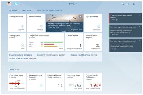 SAP Fiori Launchpad Screenshot